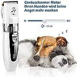 GHB Tierhaarschneider Schermaschine Tierhaarschneidemaschine Hunde Katzen Timmer 4 Aufsätze mit 2x Akku Wiederaufladbaren Haustier Rasierer - 5