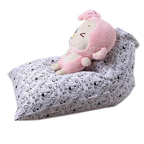 HYQ Spielzeug-Speicher-Beutel, wenn sie gefüllt - Deckel nur, verwandelt Sich in Kinder-Sitzsack Seat - Organizer Das Fits 60-80 Kuscheltiere aus Andere Kissen und Decke,D,65x95x55cm