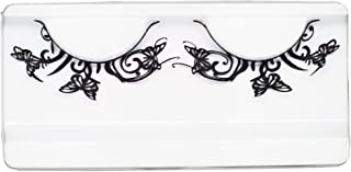 EMILYSTORES Rose Flowers Three Butterfly Fashion Black Paper Lashes Fake Eyelashes 1 Pairs