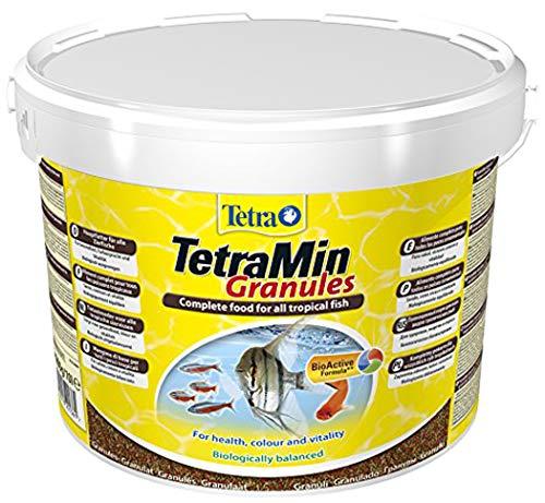 Tetra TetraMin - Aliments Premium Complet pour tous les Poissons Tropicaux - Favorise la Croissance la santé et la Longévité – Formule Bio Active - en granulés - 10L