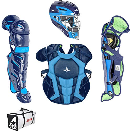 All-Star Intermediate System7 Axis Elite Travel Team Catchers Set Navy/Blue