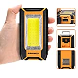 LED Rechargeable Magnetic Work Light 40W 1500Lumens, Hanging Hook 3 Lighting Modes, Portable Work Light and Job Site Lighting for Car Repairing, Camping, Hunting, and Hurricane