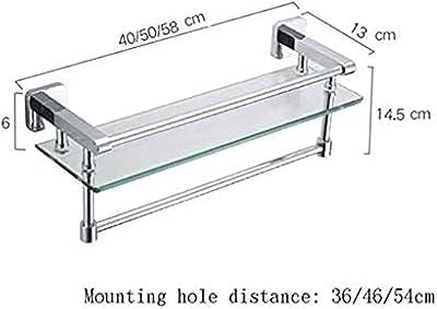 シャワーラック 壁掛け式のシャワーキャディバスケットバスルームの棚の棚の棚の棚の棚の棚の棚、すべての銅補強材(サイズ:50cm)(サイズ:50cm) (Size : 40cm)