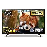 アイリスオーヤマ 40V型 液晶テレビ 40FB10P フルハイビジョン 裏番組録画対応 外付HDD録画対応