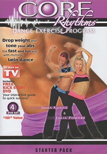 【ショップジャパン海外正規品】 コアリズム ダンスエクササイズプログラム:スターターパッケージ DVD4枚組み Core Rhythms Dance Exercise Program: Starter Package