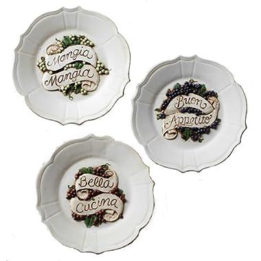 Italian Decorative Wall Plates Set of Three