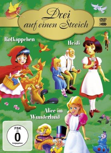 Drei auf einen Streich (Rotkäppchen / Heidi / Alice im Wunderland) [3 DVDs]