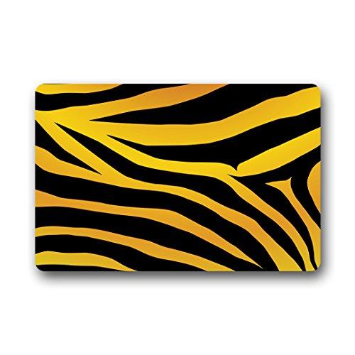 Doubee générique Fashion Zebra Bande de Premium Tapis antidérapant Pied Tapis Anti-Poussière passwort 46 cm x 76 cm, Tissu, E, 18\