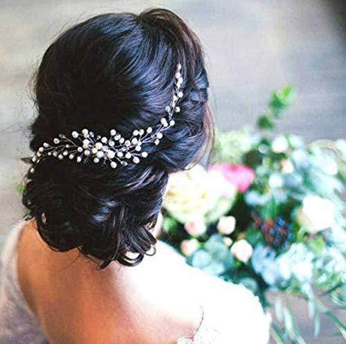 Dusenly Braut Haar Kamm Braut Haar Rebe Clips Perlen Stil Haarspangen Hochzeit Haarschmuck