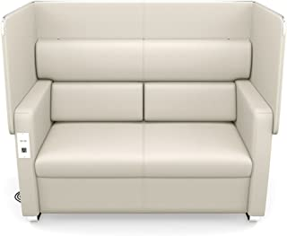 Morph Faux Leather Flip Up Privacy Panel Sofa Dimensions: 61.50
