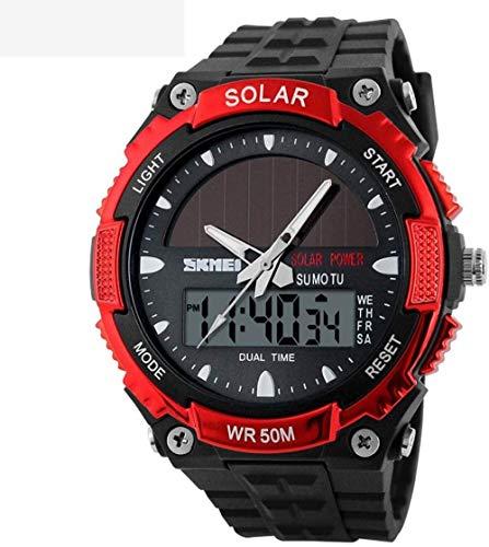 JWCN Herren Solaruhr wasserdichte elektronische Outdoor-Uhr Studentensportuhr Geeignet zum Verschenken (Farbe: Style-D)-Stil-a Uptodate