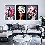 bdrsjdsb Moderne Blume Frauen Leinwand Ungerahmt Malerei Wohnzimmer Wandkunst Poster Bild Dekor 5# 40 * 50 cm -
