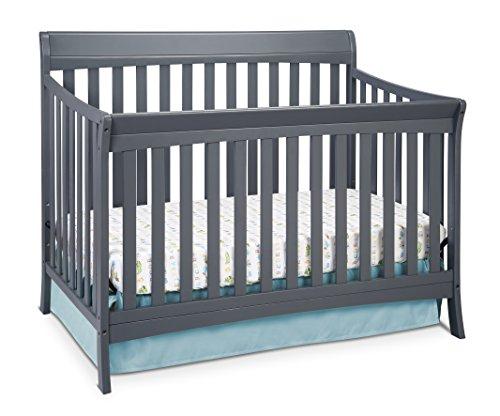 Storkcraft Avalon 4-in-1 Convertible Crib, Gray