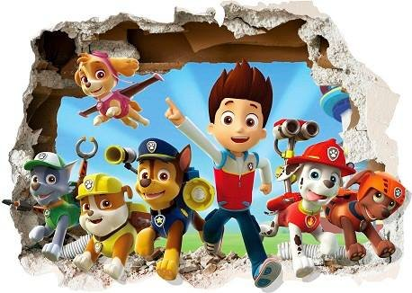 boy wall murals amazon co ukpaw patrol smashed wall stickers 3d bedroom boy and girls mural decal wall art size