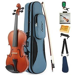 scheda eastar 4/4 violino acustica naturale di legno con custodia rigida, poggiaspalla, arco, colofonia, accordatore e corde(eva-1)