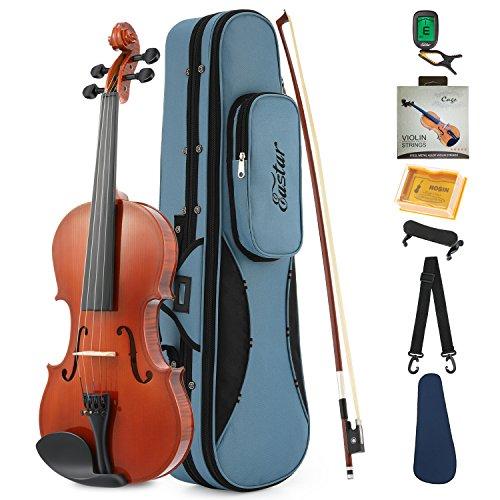 Eastar 1/2 Geige für Anfänger Violine Akustische Starter Set Kinder Erwachsene mit Koffer, Schulterstütze, Bogen, Kolophonium und Saiten (EVA-1)