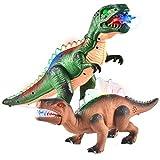 JOYIN 2 LED T-Rex Walking Realistico Dinosauri Giocattoli Che Cammina e Rugge Autimaticamente