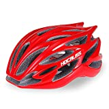 HOCALISS Adult Bike Helmet, Road Cycling Helmet Adjustable Size for Adult Men/Women, Fit Head Size 21.65-24 inches(M/L 55-61cm) (Red)