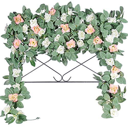 2.5m Artificial Flower Silk Rose Leaf Garland Vine Ivy Practical Garden Decors#c