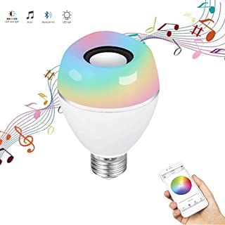 LED Light Bulb with Bluetooth Speaker, E26 RGB Color Changing Music Bulb with APP Control, Multi-Connected and Synchronously Control, Light Flash with Music Rhythm