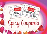 Spicy Coupons: Gift Cards Vouchers for Adult Couples Bedroom Both Partners Homemade Husband Love Naughty Hot Position Sexy Sweet Wife Boyfriend ... Present Dating Married Massage Gag Kinky