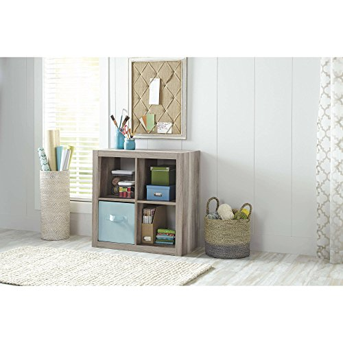 Better Homes and Gardens Square 4-Cube Organizer, Multiple Colors (Rustic Gray)