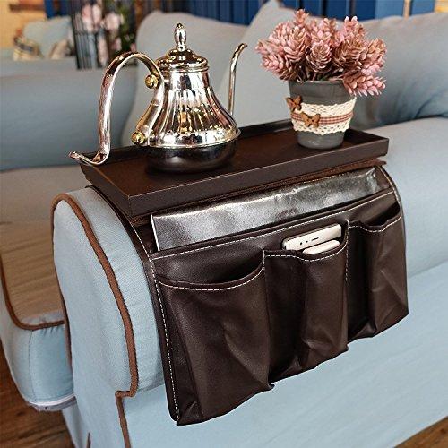 LIKEA Sofa Couch Remote Control Holder, Chair Armrest Caddy Pocket Organizer, 7.5 x 6 x 12-Inch