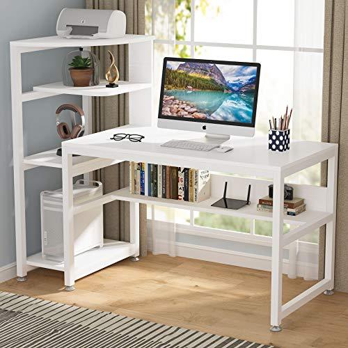 Tribesigns Art Desk with 4-Tier Storage Shelves