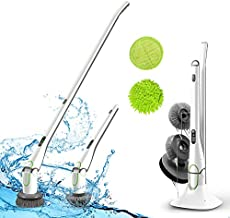 GOOD PAPA Electric Spin Scrubber, 360 Power Brush Floor Scrubber, 2 Speed HD LED Display, with 5 Replaceable Brush Heads Cleaning for Tub, Kitchen, Bathroom, Tile