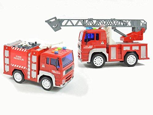 Fuoco camion dei vigili, luce e suono, altalena azionamento bordo