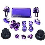 Gotor PS4 PRO コントローラー 交換用 ボタン キーキット フルボタン プレイステーション4 PRO 対応用 LR AB ボタンDパッドクロスキーキット 修理部品 (Purple)