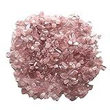 MAXIAOTONG 5-7mm Naturale Rosa Rosa Quarzo Cristallo di Cristallo Pietra Pietra Patatine Fritte di Roccia Lucky guarigione Naturale Cristalli di Quarzo Naturale 50g