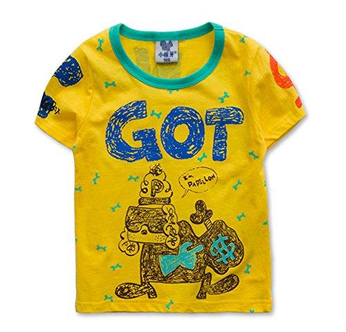 Tendance pour garçon Chemise spéciale T-shirt pour Cool Boy - Jaune - Taille Unique