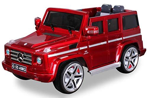 Mercedes G55 AMG rojo metálico del coche eléctrico para niños con control remoto de los padres