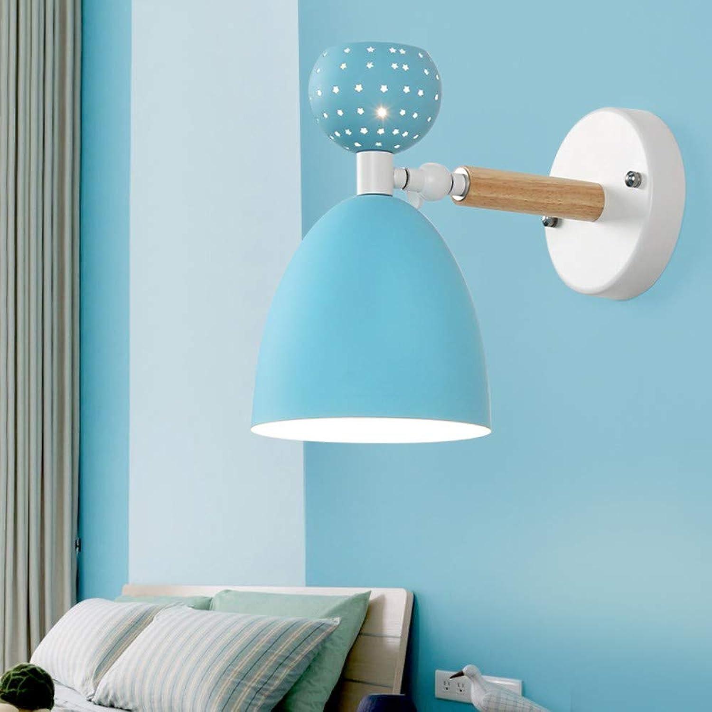 SUWIND Wandleuchte Nordic minimalistischer Stil Wandleuchte Nachttischlampe Geeignet für Hotel Wohnkultur Wohnzimmer Schlafzimmer Korridor, blau