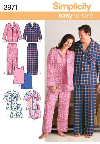 Simplicity patroon 3971 BB voor nachtkleding in grote maten