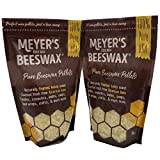 Meyer's 100% Pure Domestic USA Beeswax, NOT Imported, Chemical Free Triple Filtered Pellets for All Your Do It Yourself Projects (32 oz)