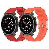 Yikamosi Compatible con Polar Grit X Watch Correa,22mm liberación rápida Silicona Suave Oro Rosa Cierre de Acero Inoxidable...