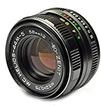 Helios 44m-5 58mm Russian Lens for M42 Mount cameras