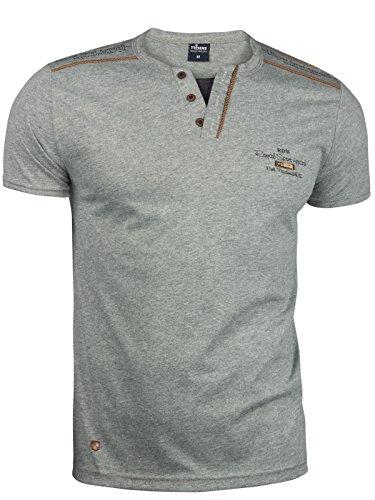 Trisens Herren Sommer Polo Hemd T-SCHIRT POLOSCHIRT Kurzarm Baumwolle, Größe:M, Farbe:Dunkelgrau