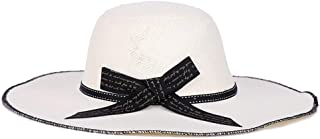 Hat Hat Distaff Summer Sun Hat Big Along The Ladies Linen Elementary Fashion European and American Style Tide Hat (Color : White)