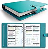 [MSRP $50 - Sale] LUX PRO Productivity Planner – Best A5 Undated Diary/Organizer for 2020/2021 - Daily Schedule & Reflection Journal - Manage Time/Projects/Finances - Goals & Gratitude (Turquoise)