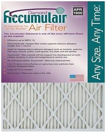 Accumulair Diamond 24x28x1 (Actual Size) MERV 13 Air Filter/Furnace Filters (6 pack) [並行輸入品]