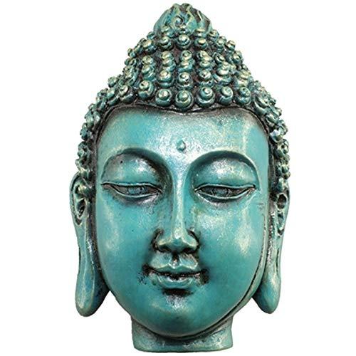 World Buyers Petite Teal Buddha Bust Box 2.688x4.125x1.625 H
