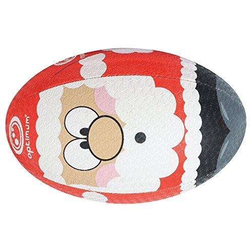 OPTIMUM Weihnachtsmann Weihnachten Rugby-Ball, Mehrfarbig 36 bunt