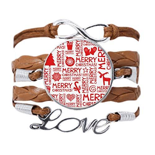 DIYthinker Merry Christmas Trees Deer Bracelet Love Chain Rope Ornament Wristband Gift