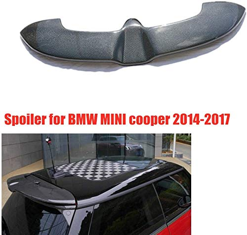 TBJDM Carbon Heckspoiler Rear Spoiler Geeignet für BMW Mini Cooper F55 F56 2014 2015 2016 2017 2018, Kofferraum Kofferraum Fensterlippe Sport Zubehör