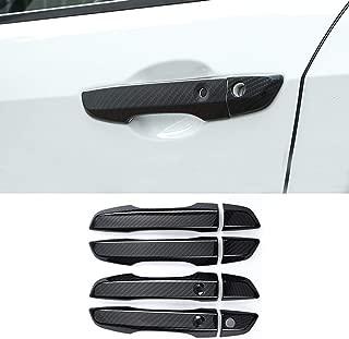 Carbon Fiber Print Exterior Door Handle Cover Trim Car Accessories for Honda Civic 2016 2017 2018 2019 (with Keyless Holes)