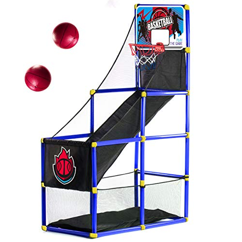 Arcade Blue Basketball Hoop Game by BestKidBall – Basement Toys – Basketball Hoop for Kids – Basketball Game with Hoop Training System – Kids Indoor Sports Toys – Fun and Entertaining
