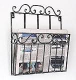DanDiBo Wandregal Zeitungsständer 09913 Magazinhalter 38 cm Küchenregal Zeitungshalter